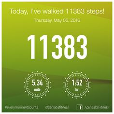 Thursday, May 05, 2016 - 11383 steps