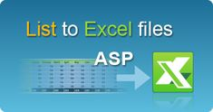Export List to Excel file in ASP classic by EasyXLS! XLSX, XLSM, XLSB, XLS spreadsheets in ASP classic. #EasyXLS #Export #List #Excel #ASP Files In C, User Guide, Filing, Tutorials, Console, Windows, Reading, Create, Classic