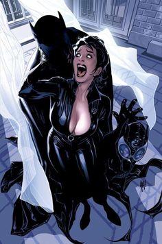 Batman y Catwoman por Adam Hughes. Comic Book Artists, Comic Book Characters, Comic Book Heroes, Comic Artist, Comic Character, Comic Books Art, Female Characters, Character Design, Batman 1