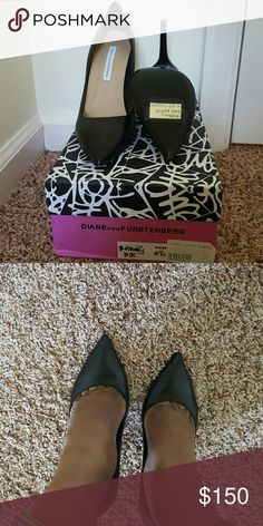 authentic DVF black pumps. size 8.5 authentic DVF black pumps. size 8.5. retails for 325 selling for 150. Willing to negotiate, but no low ball offers please. Diane von Furstenberg Shoes Heels