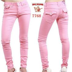 True Religion Womens Jeans Size 29 Legging Super T Pink Bartack ...