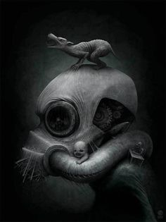 The dark fantasy art of Anton Semenov an illustrator and digital artist from Bratsk in Russia. We have a selection of his amazing digital creations. Creepy Paintings, Creepy Art, Weird Art, Scary, Creepy Stuff, Strange Art, Dark Fantasy Art, Arte Horror, Horror Art