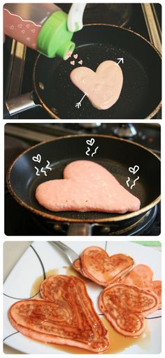 Pink Valentine Pancakes | 44 Valentine's Day Treats To Melt Your Heart