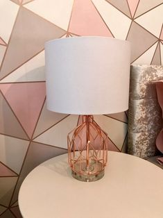 room makeover rose gold Blush and rose gold teen room