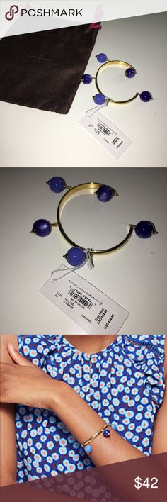 Kate Spade New York Blue Multi Color Kate Spade New York Blue Multi Color  Cuff Bracelet. Glass stone gold plated metal. This item is new and comes in original packaging and dust bag. Beautiful bracelet that adds a pop of color to any outfit. kate spade Jewelry Bracelets