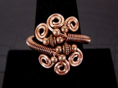 Adjustable Copper Wire Wrap Ring Hand Crafted. $14.00, via Etsy.