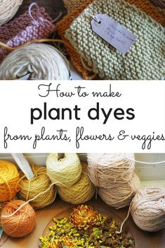 DIY plant dyes from your garden and kitchen - make natural dye from plants Discover how to make natural dye from garden plants and discarded vegetable skins. DIY plant dyes are an inspiring new non-chemical, no-waste trend. Fabric Yarn, How To Dye Fabric, Fabric Crafts, Natural Dye Fabric, Natural Dyeing, Tinta Natural, Fabric Dyeing Techniques, Spinning Yarn, Hand Dyed Yarn