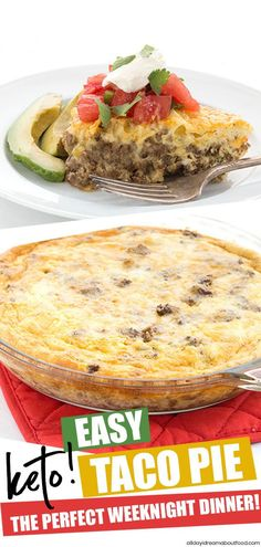 Easy Taco Pie This ridiculously easy taco pie recipe is the perfect keto meal. Kids love it adults love it and it whips up in less than 45 minutes. Its the best low carb recipe for Taco Tuesday! The post Easy Taco Pie appeared first on Rezepte. Taco Pie Recipes, Mexican Food Recipes, Diet Recipes, Healthy Recipes, Low Carb Hamburger Recipes, Ham Recipes, Supper Recipes, Sweets Recipes, Quick Recipes