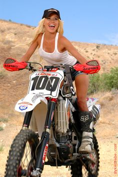 a riding girl Naked motorcycle dirt bike