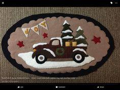 Wool Applique, Wool Felt, Stitching, Truck, Quilting, Kids Rugs, Sewing, Decor, Bricolage
