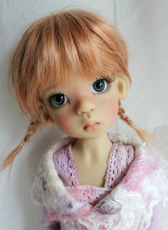 Kaye Wiggs Layla by Bjdcookie Pretty Dolls, Cute Dolls, Beautiful Dolls, Tiny Dolls, Blythe Dolls, Dolls Dolls, Porcelain Doll Makeup, Realistic Dolls, Art Sculpture