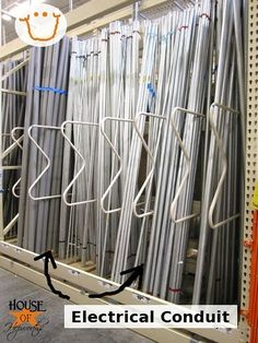 Long curtain rods - Spray paint these babies and you have curtain rods for $2 - there is a great idea for easy pinch pleat drapes on this website too...