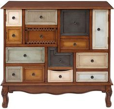 Unusual Wooden Cabinet Quirky Asymmetrical Drawers Furniture Unique Easy Level
