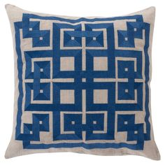 Beth Lacefield by Surya Squares Midnight Decorative Pillow - Save 15% Off all Surya with code SURYA15 thru 3/31/15