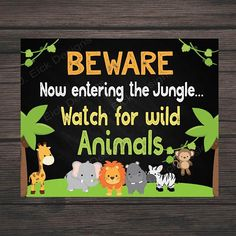 Jungle safari birthday party sign, Safari birthday party decorations, Welcome to the jungle sign, Jungle theme party decorations - Safari Party, Jungle Theme Parties, Jungle Theme Birthday, Jungle Party, Jungle Safari, Boy First Birthday, Jungle Room, 1st Birthday Party Supplies, Boy Birthday Parties