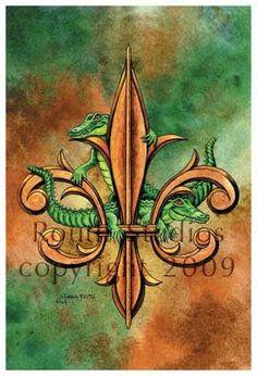 Craig Routh - Alligator Fleur-De-Lis