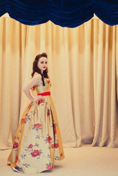 Gold Floral Silk Gown  Sophia ONE Of A KIND by makemeadress