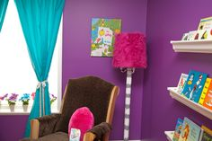 The Lorax Themed Nursery - love the #RadiantOrchid paint color #pantone #nursery #drseuss