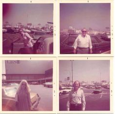 "The cast of "" ALL IN THE FAMILY"" in the '70's arriving at the CBS Studios parking lot: Jean Stapleton, Caroll O'Connor, sally Struthers and ""Meathead"" -Rob Reiner."