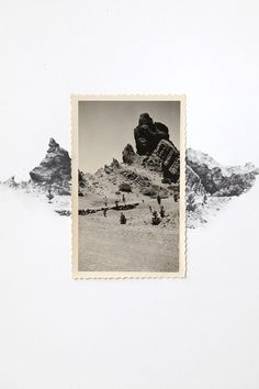 Drawing with Vintage Photo - Desert Landscape by spencerstudioshop on etsy