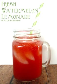 Fresh Watermelon Lemonade Takes seconds in the Thermomix!! This is a delicious and refreshing summer drink!