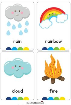 """Our """"My World Flash Cards"""" are a great learning tool for your children to learn all about the different elements and features of our wonderful world, all with bright coloured images. There are 16 cards in this set. English Activities, Toddler Learning Activities, Baby Learning, Preschool Activities, Learning English For Kids, English Lessons For Kids, Kids English, Preschool Weather, Free Preschool"""