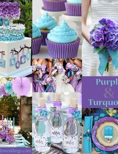Things Need For A Turquoise and Purple Wedding