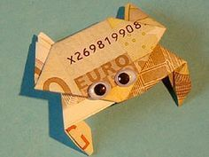 Idea for folding money - Geburtstagsideen - Origami Diy Gifts For Kids, Presents For Kids, Diy Presents, Don D'argent, Folding Money, Diy Tattoo, Activities For Kids, Diy And Crafts, How To Make Money