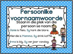 Afrikaans Language, School Clipart, 1st Grade Worksheets, School Posters, School Subjects, School Readiness, Study Notes, Home Schooling, School Fun