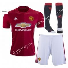 2016-17 Manchester United Home Red Thailand Soccer Uniform With Socks
