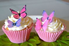 Edible butterflies by Sugar Robot - sugarrobot.etsy.com