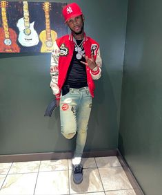 Dope Outfits For Guys, Swag Outfits Men, Summer Outfits Men, Edgy Outfits, Rapper Outfits, Urban Fashion, Mens Fashion, Dark Skin Boys, Cute Rappers