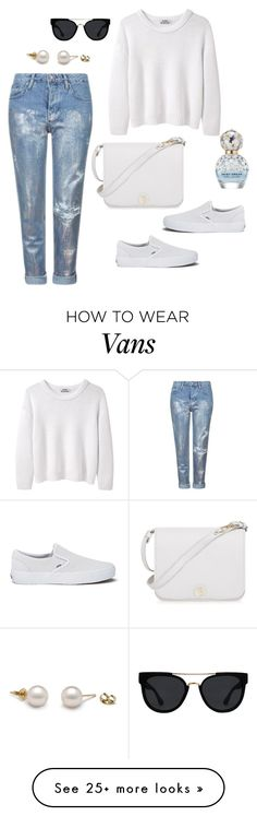 """""""winter white"""" by jasive-asseff-jamous on Polyvore featuring Topshop, Acne Studios, Vans, Quay, Furla and Marc Jacobs"""