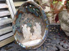 Fine Carved Jerusalem Antique Mother OF Pearl Middle Eastern Abalone Shell | eBay