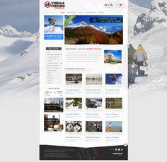 Ushuaia Extremo Travels. Agencia de Turismo.  Diseño y desarrollo Web administrable 2.0. Generación de secciones, productos, promociones, paquetes, galería de fotos, videos, destacados, banners, buscador, formularios de consultas, funciones redes sociales, etc.