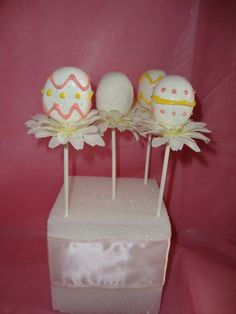 Easter Cake Pops by TuffCookieBakeShop on Etsy  I want to try this!!