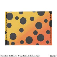 Black Dots On Blended OrangeToYellow Tyvek® Card Wallet