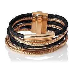 L.K. Bennett Jasmine Black & Gold Metal Bracelet ($55) ❤ liked on Polyvore featuring jewelry, bracelets, hinged bangle, boho style jewelry, stackers jewelry, bohemian jewelry and bohemian jewellery
