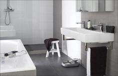 Memento badkamer - Donker met witte muren