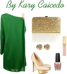 """""""Coctel"""" by kary-caicedo on Polyvore...Christmas party? Different shoes"""
