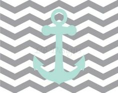 Anchor, blue