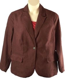 7a5d9ed6d71 Womens Coldwater Creek Jacket Blazer Plus Size 1X Singe Buttons Sueded  Polyester… Blazer Suit