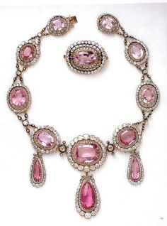 Brazilian pink topaz jewels made around 1804 belonging to the royal family of