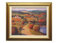 Rent the Villany I Framed Artwork - Lush Green - Red Scenery - Hungary - Wine Region