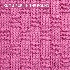 Basket weave Ribbing - knitting in the round | Knit - Purl stitches