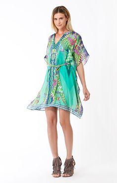   Clover Belted Silk Dress   Womens Dresses   Hale Bob Dresses   - Hale Bob