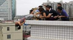 Chinese Woman Futile Attempt To Commit Suicide