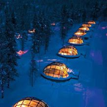 Glass igloos , Finland