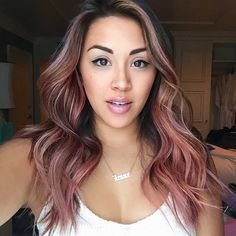 """2,187 Likes, 53 Comments - Jessica Gonzalez (@jesstheebesttcolor) on Instagram: """"@jessicalesaca has pink hair 💞 💫 cut by @cleencuts #jesstheebesttcolor #jesscleen #balayage #ombre…"""""""