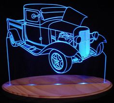 A lighted acrylic sign of a 1932 Ford Pickup Truck. Welcome to the home of the ORIGINAL ValleyDesignsND acrylic designs! You will find no cheap